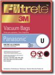 Filtrete by 3M Panasonic U Micro Allergen Vacuum Bags (Case of 18)